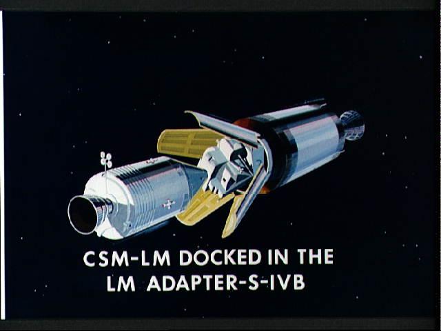APOLLO LUNAR MODULE LM-CSM Docking (2) (アポロ/司令船・機械船と月着陸船の ...